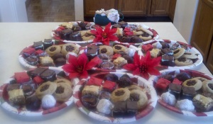 Mega Christmas Baking Day Christmas Tree of Goodie Platters